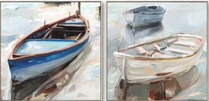 Boats Set of 2 Canvas