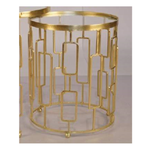 Kelly Gold Side Table