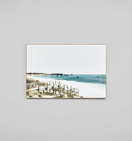Blue Bay Steps Canvas