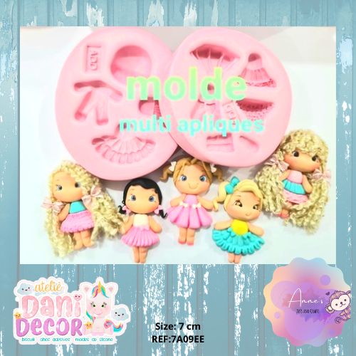 Silicone Mold -Kit Multi Appliques - Collection Dani Décor