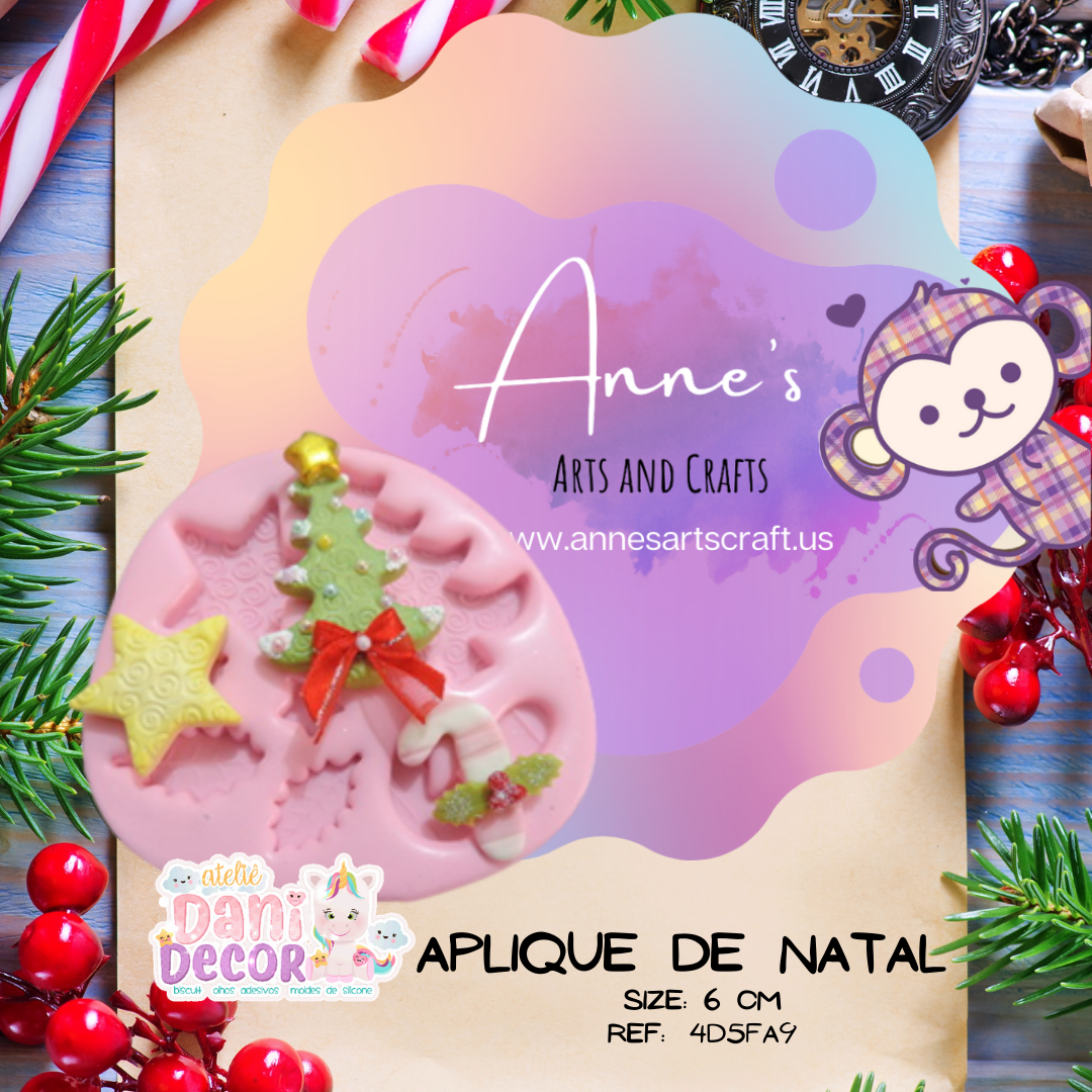 Silicone Mold Aplique de Natal -  Collection Dani Décor
