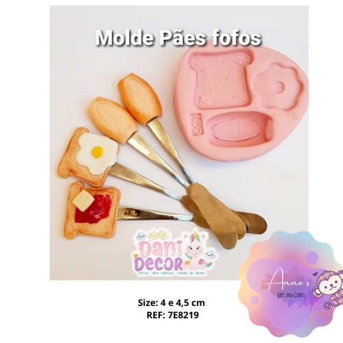 Silicone Mold - Pães Fofos -  Breads Collection Dani Décor