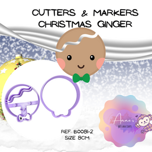 Christmas Cutter & Marker Set  - Ginger Head