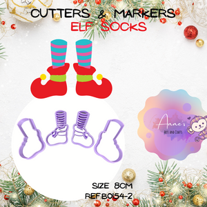 Christmas Cutter & Marker Set -  Elf Socks