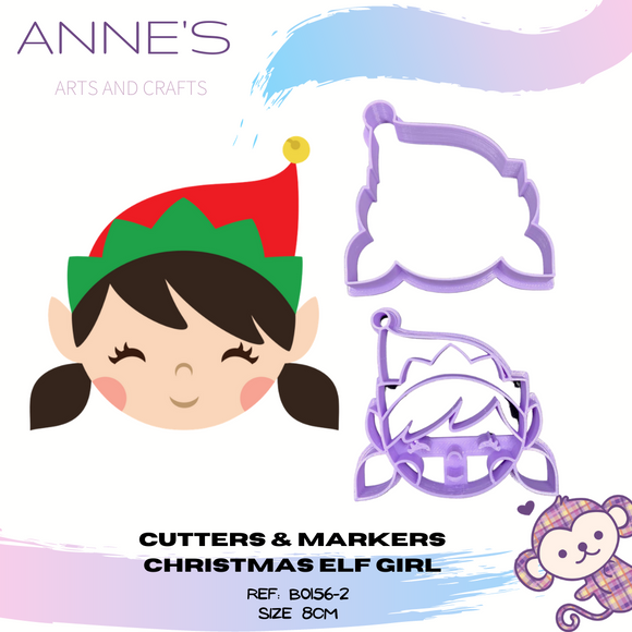 Christmas Cutter & Marker Set - Elf - Girl
