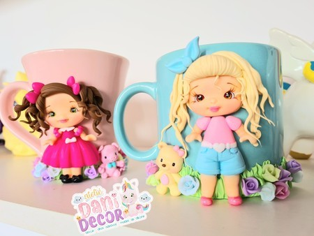 Silicone Mold - Caneca Cute I - Cute Mug Doll I Collection Dani Décor