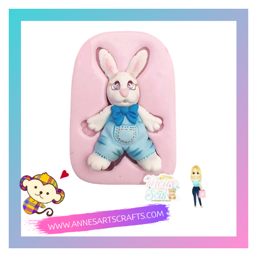 Silicone Molde - Coelho Country - Bunny Country