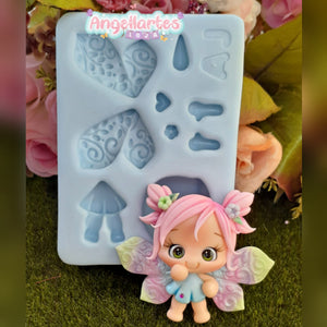 Silicone Mold Fadinhas - Fairy - Collection  Angellartes
