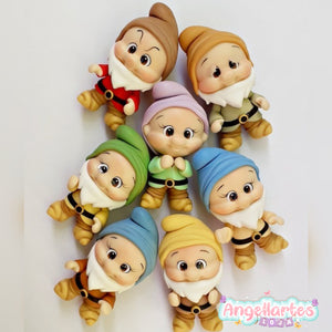 Silicone Mold Anões Cute - Cute Dwarfs  - Collection  Angellartes