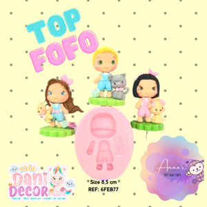 Silicone Mold  Top Fofo - Top Cute Collection Dani Décor