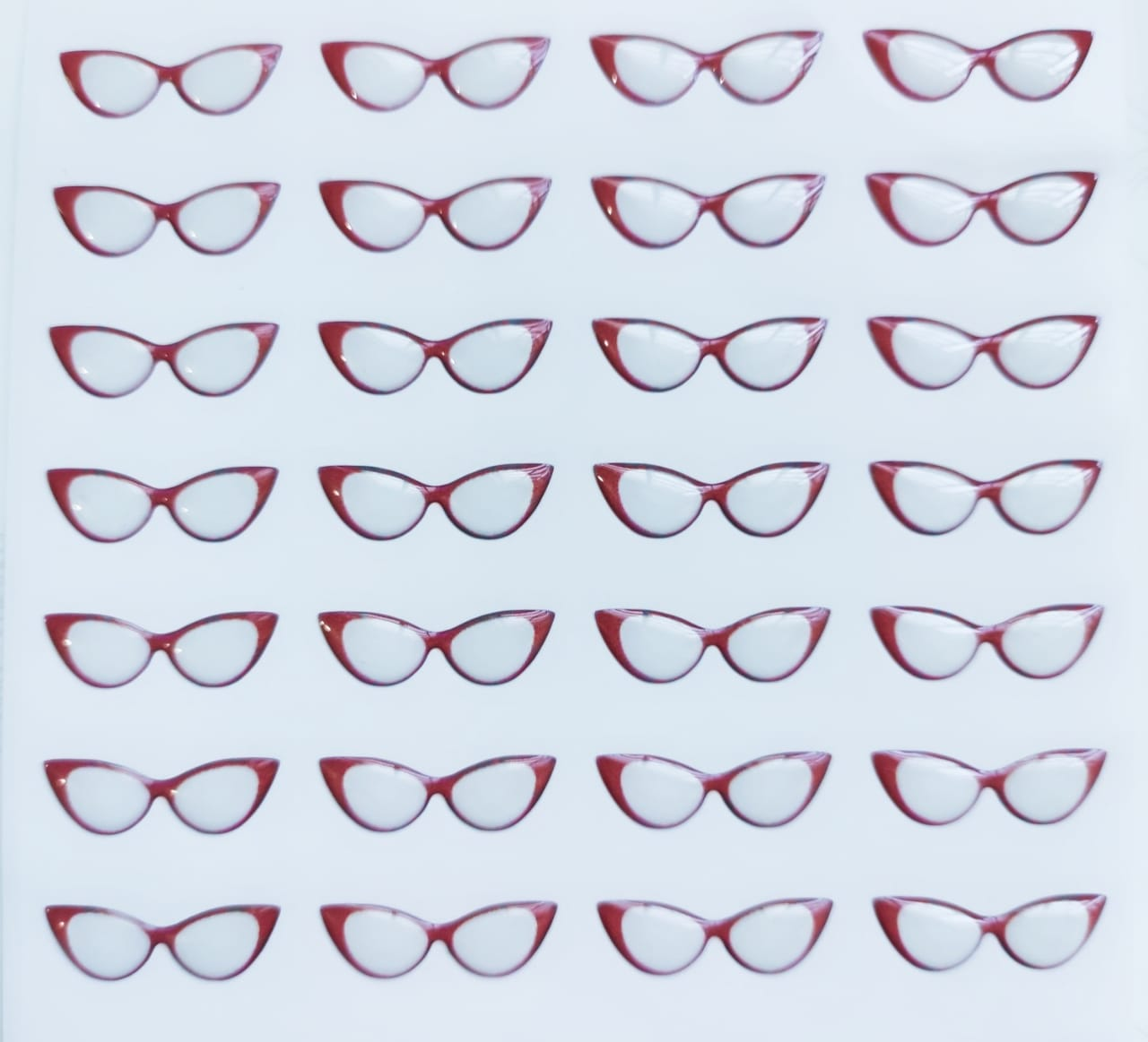 Eyeglasses 3D Stickers - Cat-Eye - 523