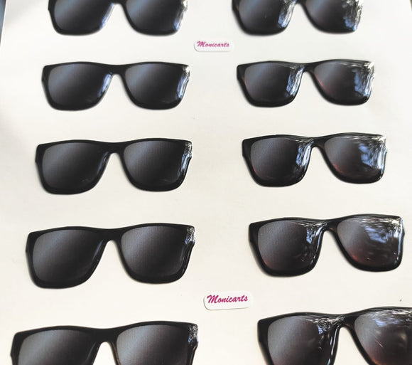 Sunglasses 3D Stickers - Black 525