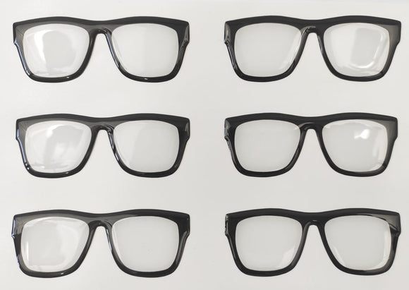Eyeglasses 3D Stickers - Frame Black  525