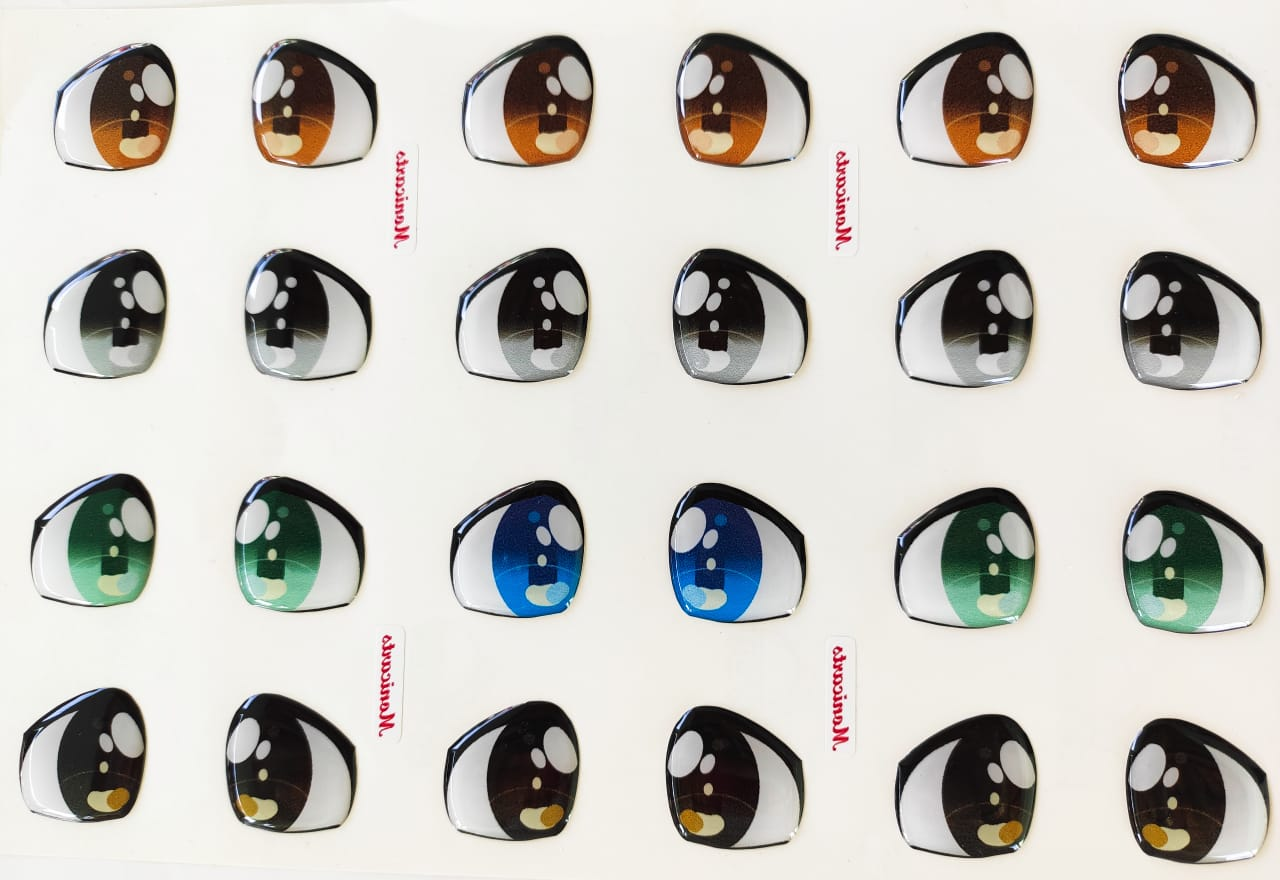 Eyes 3D Stickers - Ojos, Olhos Resinados - 382-G