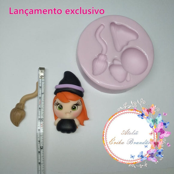 Silicone Mold Bruxinha  - Witch