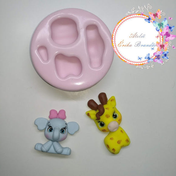 Silicone Mold Mini Bichinhos