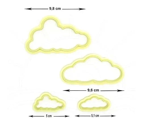 Kit Cutter Cloud 4pcs