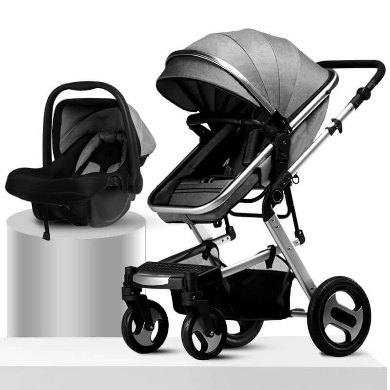 2 in 1 travel stroller --grey