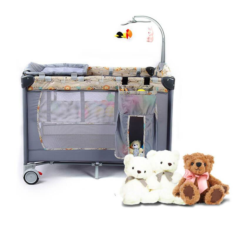 Functional Playbed Foldable Portable Baby Crib