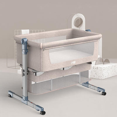 co sleeper beside bassinet