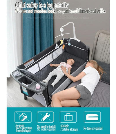 Portable Baby Bed Mini Crib-4