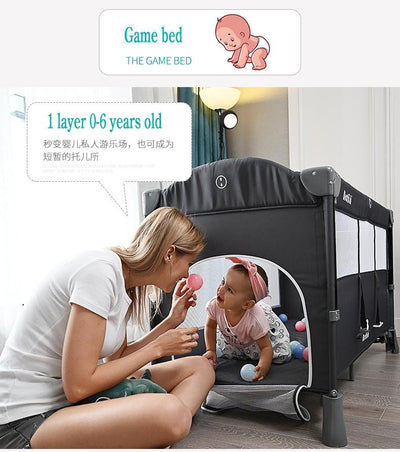 Portable Baby Bed Mini Crib-5