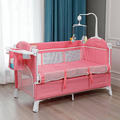 Portable Baby Mini Crib pink