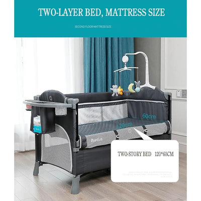 Portable Baby Bed Mini Crib-8
