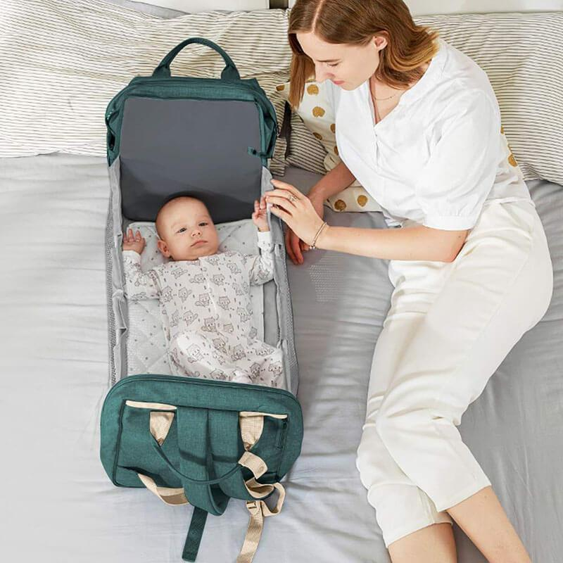 Multi-function Diaper Bag Backpack with Travel Bassinet