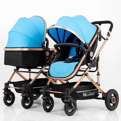 Side by Side Double Stroller Twin Stroller for Infants and Toddlers