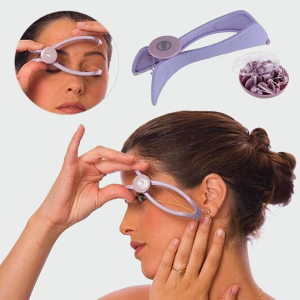 Eyebrow Face and Body Hair Threading and Removal System