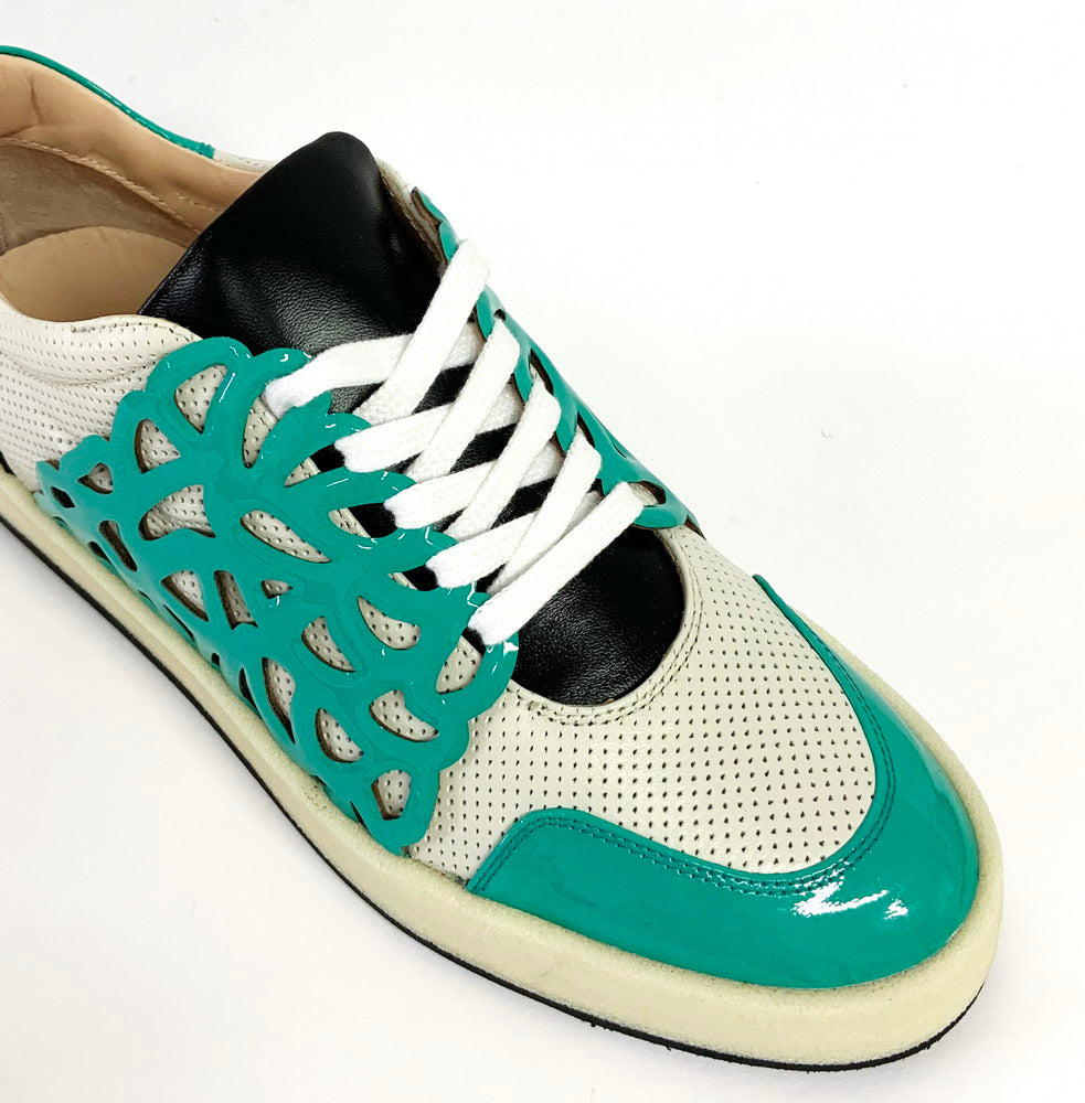 BAROQUE - Sneakers turchese