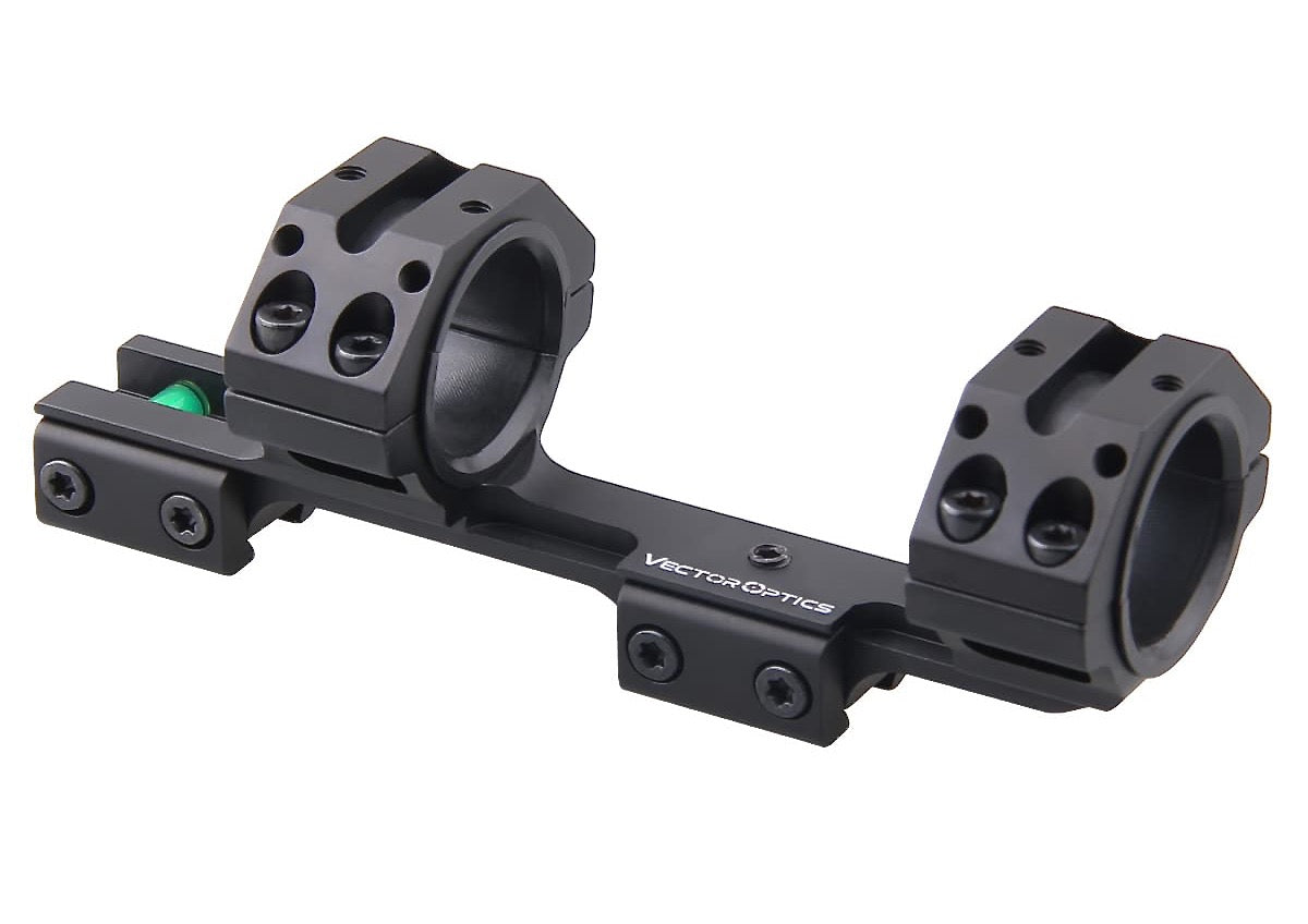 Scope Mount, 30mm or 25mm Scope Rings, fits 11mm sight rails, Anti Cant Bubble.