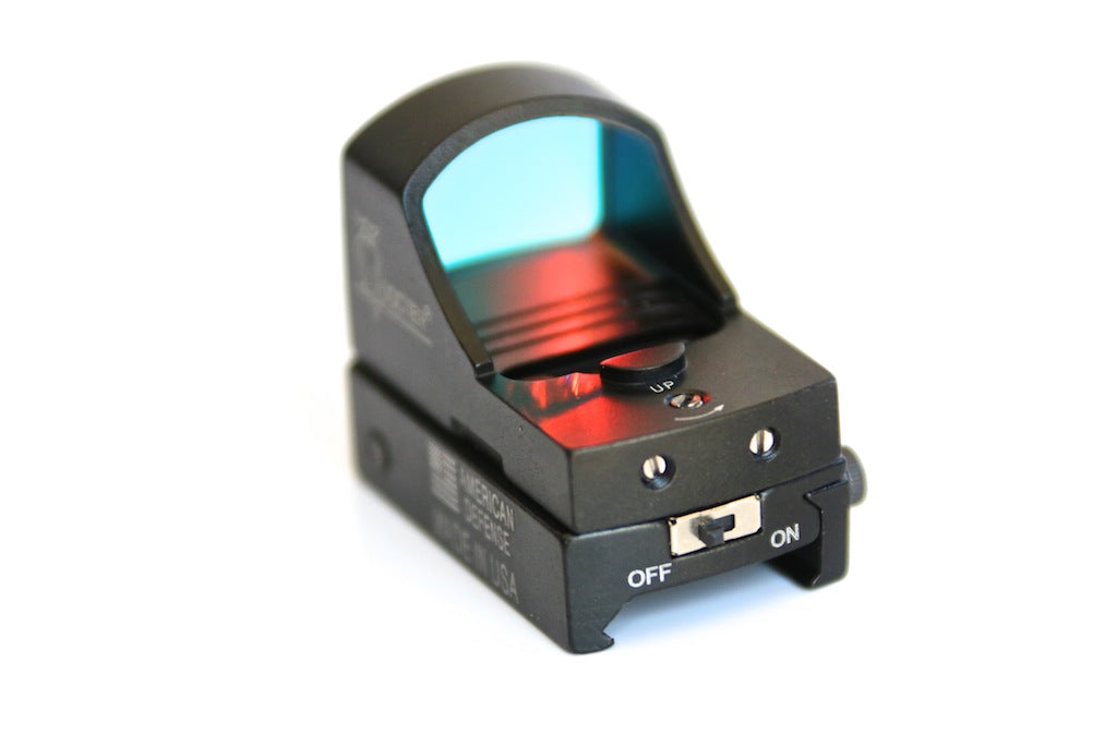 Red dot MINI reflex sight with ON/OFF, ideal pistol sight.
