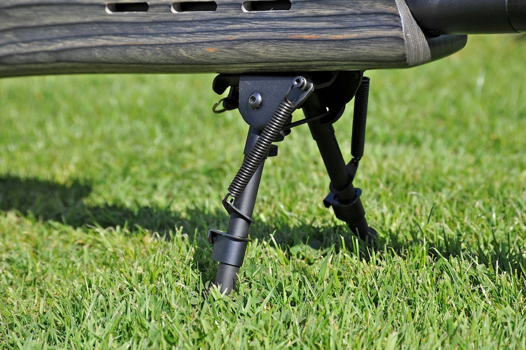 Bi-Pod Rambo Spring Loaded Telescopic Legs 6-9 inches for use on most guns.