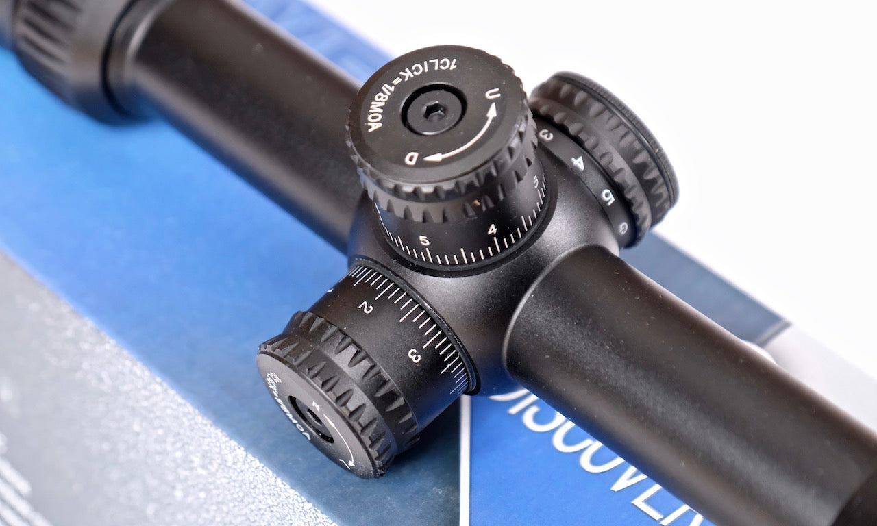 Discovery Optics 6-24X44 VT-Z AOE  Rifle Scope Mill-Dot illuminated Reticule.