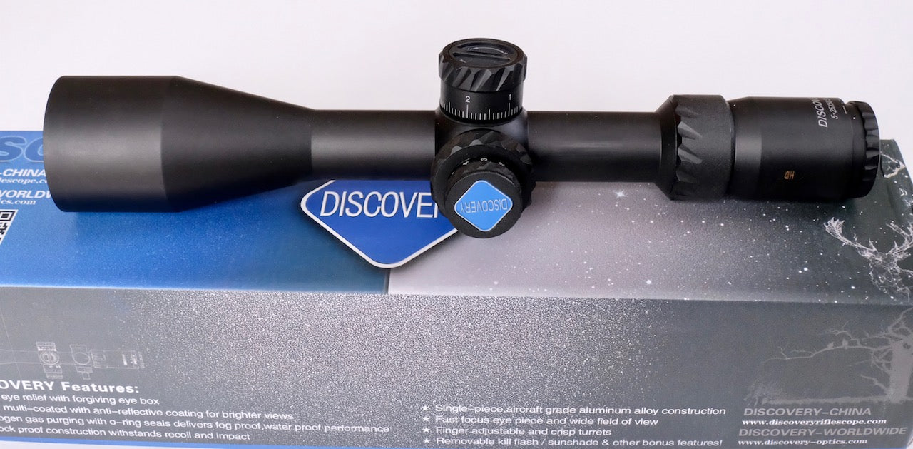 Discovery Optics HD 5-25X50  FFP Rifle Scope Range Finder illuminated Reticule.