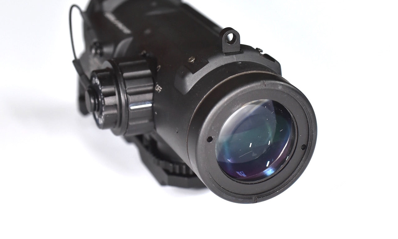 Specter DR 1&4X Zoom Illuminated Cross Hair Rifle Scope, Red dot Reticule.
