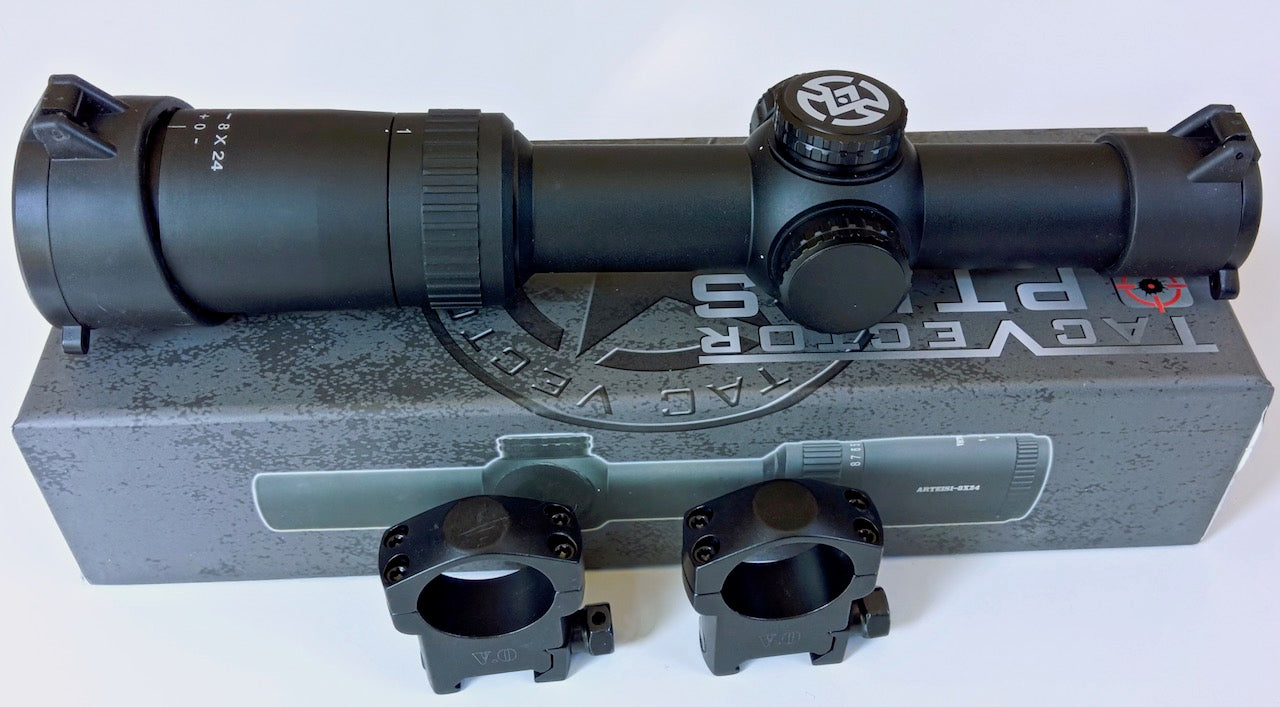 Vector Optics Thanator 1-8x24 Riflescope CQB Red Illuminated VTC MIL with Red Dot