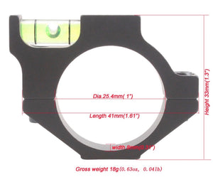 Vector Optics 25mm Scope Anti Cant Device Spirit Bubble Level Scope Mount Rings