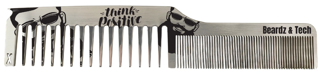 Stainless Steel Comb with Parting Tip - Beardz & Tech