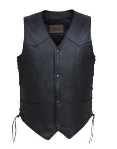 Unik Intl Men's Tall Classic Leathe Vest 0331.TL