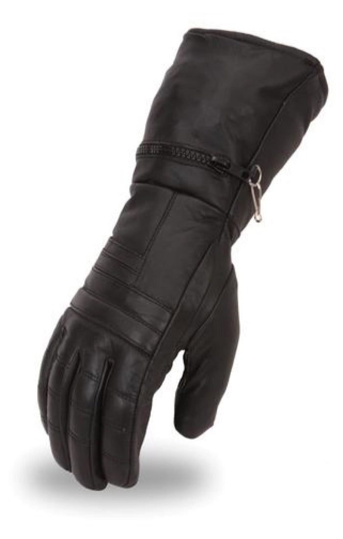 First Mfg Men's Gauntlet Leather Gloves FI120GL