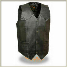 Load image into Gallery viewer, Men's Classic Leather Vest without Side Laces