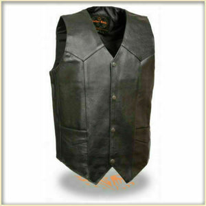 Men's Classic Leather Vest without Side Laces