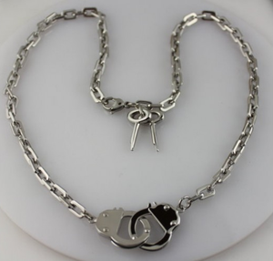 Women's Stainless Steel Handcuff Necklace