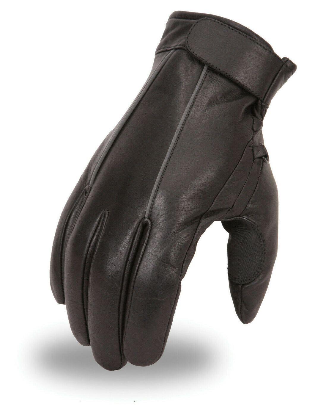 Men's Leather Glove Featuring Reflective Piping FI152GL