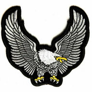Medium White & Grey Eagle Patch
