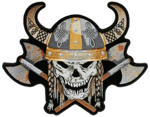 Viking Skull Axes and Horns Large Patch