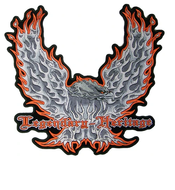 Legendary Heritage Flaming Eagle  Large Patch